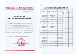 铁路工程质量监督检测机构名录
