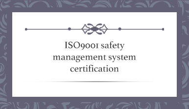 ISO9001 safety management system certification