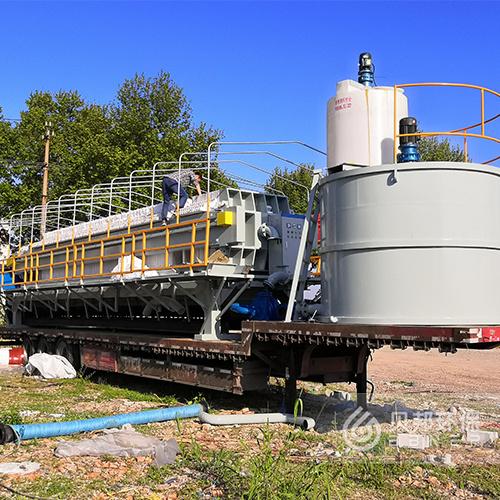 贝邦环保-500平-车载压滤机-河道清淤污泥处理
