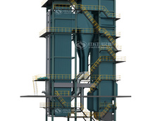 DHX coal-fired CFB (circulating fluidized bed) steam boiler