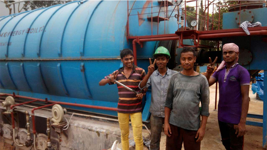 One Set Ton Tyre Pyrolysis Plant in Bangladesh