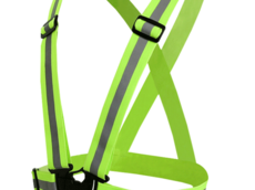 fluorescent green color reflective elastic strap safety vest belt for outside running safety