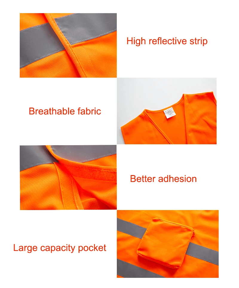 Adjustable Strap Night Running Reflective Safety Strips Vest