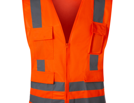 Customizable EN 20471 high quality reflective strip police safety vest with zipper