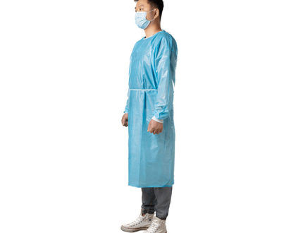 Factory nonwoven protective sms disposable pe cpe isolation gown