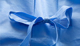Sterile Blue Isolation Protective Suit Medical Clothing ...