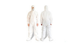 Disposable White Protective Clothing Hooded Coveralls For ...