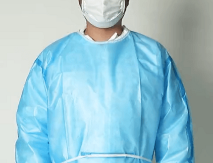 Factory non woven sms disposable pe isolation surgical gown
