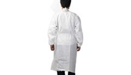 (L) 10 Medical Dental Disposable Lab Coat Gown Blue 10/bag ...