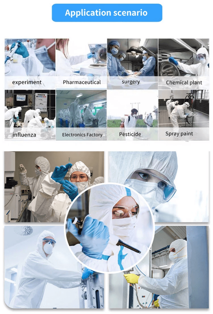 CPE disposable isolation gown with elastic cuff