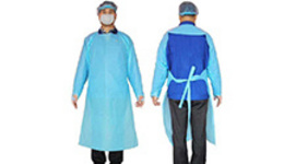 Waterproof Disposable gown isolation clothing coverall ...