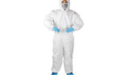 Doctor Man Wearing Biological Protective Uniform Suit ...
