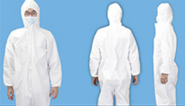 in Stock Non Woven Disposable Medical Protective Clothing Suit