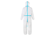 Medical protective coverall PP+PE+Taped Seams Non-woven coated suit coverall