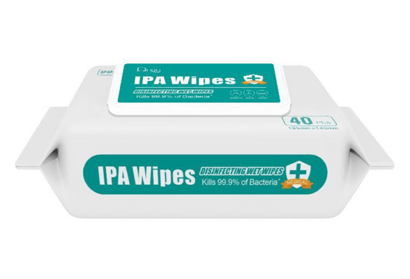 Custom Hospital Medical Sterile IPA Clean Tissue 99% Sanitizer 70% Isopropyl Alcohol Antiseptic Disinfecting Wet Wipe