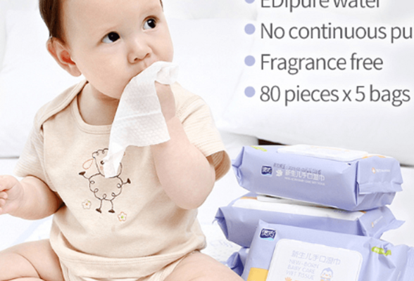10pcs 80pcs Baby Wet Wipes, wet tissue for baby hands and mouth