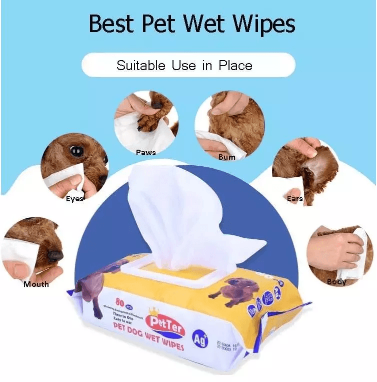 Special Sanitising Dog Tooth Wipe Pet Grooming Wipes Small Pack Wipes