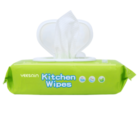 Disposable Ultra Bamboo Kitchen Surface Clean Stain Removing Large Wet Wipe