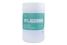DR HEAL Disinfecting 75% Alcohol Wipes - 5 Packs of 50 ...