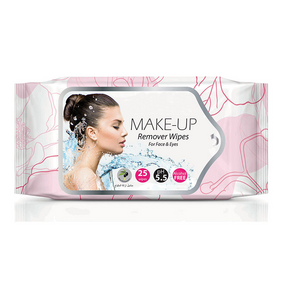 Custom Oil Free Face Cleaning Cosmetic Makeup Remover Wipe