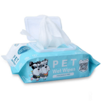 100% Organic Pet Cleaning Wet Wipes