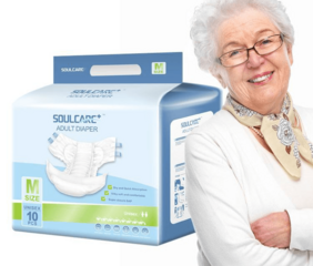 Private Label Free Sample Elder Disposable Adult Sized Printed Diaper Nappy Bulk for Sale in Japanese Mexico