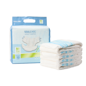 Disposable Adult Diapers with Elastic Waistband